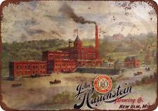 """Hauenstein Brewery Vintage Retro Metal Sign 8"""" x 12"""""""