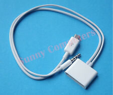 Micro USB to 30-Pin 30P iPhone iPod Dock Charger Cable With 3.5mm AUX Connector