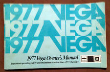 1977 Chevolet Vega Factory Original Owner's Manual