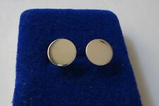 10 mm Sterling Silver Small Flat disk Studs Posts Earrings!