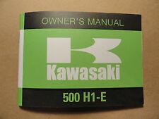 1974 Kawasaki 500 H1E Owner's Manual H1-E Owners Riders Rider's Triple Shop