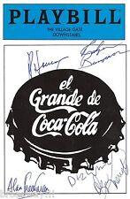 "Ron House (Cast Signed) ""EL GRANDE DE COCA-COLA"" Diz White 1986 Playbill"