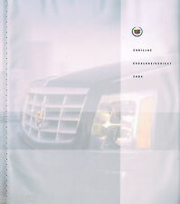 HUGE 2004 CADILLAC ESCALADE Brochure / Catalog with Color Chart: ESV, EXT, 4WD