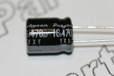 5x 470uF 16V Capacitor Rubycon Radial Aluminium Electrolytic YXF