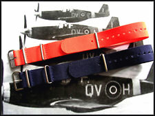20mm Blue NATO G10 Premium watch strap band 2 pak weekender RAF Bonded IW SUISSE