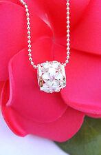 9MM PINK CZ PLUMERIA BARREL Pendant Necklace Hawaiian 925 Silver Jewelry SP36902