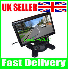 """7"""" LCD Color Car Rearview Monitor 2CH Video input For DVD & Reversing Camera UK"""