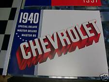 1940 CHEVROLET CAR SALES CATALOG COLOR MUST HAVE ITEM