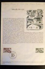 FRANCE MUSEE POSTAL FDC 21-74    LA VALLEE DU LOT   1,10F   DECAZEVILLE    1974