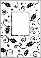 CRAFTS TOO EMBOSSING FOLDER CHRISTMAS HOLLY FRAME CTFD3034 CARDMAKING