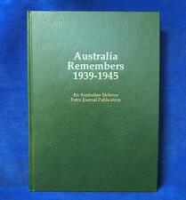 Australia Remembers 1939-1945 by Australian Defence Force (Hardback) History
