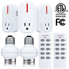 Kasonic Smart Home Wireless Remote Control Outlets Lamp Holders