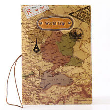 Travel World Passport Holder Ticket Document Protector Cover Case Bag  Wallet FG