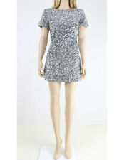 Jack Wills Silver Fully Sequined Evening Mini Party Evening Dress UK 8 36