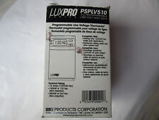 LuxPro PSPLV510 Digital Programmable Line Voltage Thermostat 120/240V NEW in Box
