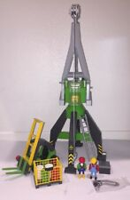 Playmobil 4470 Harbor Crane Conlines & Retired Construction Forklift 3003