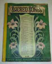 Sacred Songs (1940) Music Book