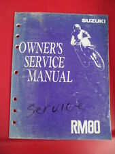 Suzuki Factory Service Shop Repair Owner's Manual 1992 RM80 99011-02B26-03A