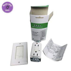 GFCI 15 Amp 125 V LED GFCI Ground Fault Circuit Interrupter Outlet White