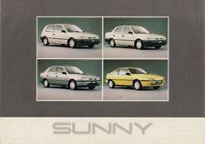 Nissan Sunny & 100NX 1991 UK Market Foldout Sales Brochure