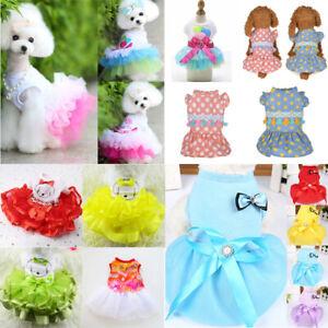 Pet Cat Puppy Dog Dress Skirt Vest Shirt Summer Small Dog Clothes Pet  Apparel