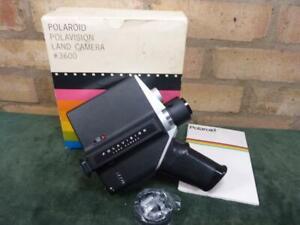 vintage polaroid Polavision #3600 cine Land camera boxed