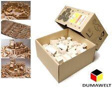 220 Stück XL Holzbausteine Buchenholz Bauklötze Holzklötze Holzspielzeug Natur