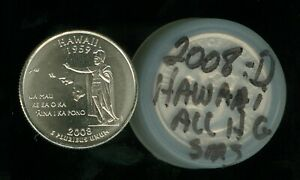 2008-D HAWAII QUARTER ROLL OF 40 SMS COIN ALL HIGH GRADES ONLY 745,000 MINTED