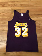 Magic Johnson Los Angeles Lakers NBA Vintage Logo 7 Jersey Youth Size XL