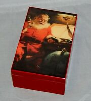 Hallmark Coca Cola Santa Claus Wood Jewelry Music Box Rare