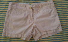 "womans ANN TAYLOR LOFT sz 4 beige mini shorts 32"" waist mid-rise euc"