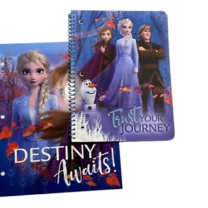 Disney Frozen II Notebook with 80 Wide Ruled Sheets and Folder