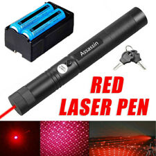 New listing Rechargeable 18650 650nm Red Star Beam Laser Pointer Pen Teaching Lazer 900Miles