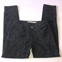 Romeo & Juliet Couture Womens Jeans Skinny Velvet Print Black Size 30 Nice!