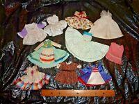 10 DOLL DRESSES for Ginny Madame Alex Barbie + Hand Machine Made Vtg NO Tags (M9