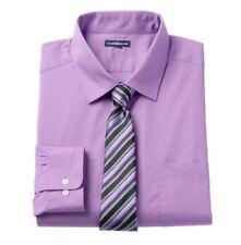 Croft & Barrow Dress Shirt Tie Men'S Purple 15.5-16 34/35 Fitted Set Brand New