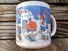 Northern Images BARBARA LAVALLEE Coffee Cup Alaska Eskimo Igloo Snow Inuit Mug