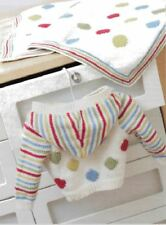 Knitting Pattern Baby's Cute DK Spots & Stripes Jacket & Blanket Ages 3-18 mths