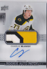 17-18 UD Premier Charlie McAvoy /199 Auto Patch Rookie Bruins 2017