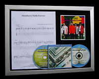 BEATLES Strawberry Fields TOP QUALITY MUSIC CD FRAMED DISPLAY+FAST GLOBAL SHIP