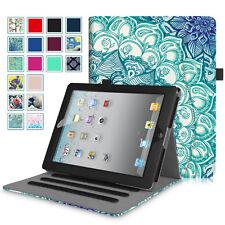 For iPad 2 iPad 3 iPad 4 Folio Case Multi-Angles Smart Stand Cover with Pocket