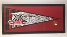 """2007 ~ Signed By Entire Team!! ~ Carolina Hurricanes Pennant Framed Glass 33.5"""""""