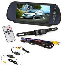 "7"" Car TFT LCD Monitor Mirror & Wireless Reverse Car Rear View & Backup Camera"