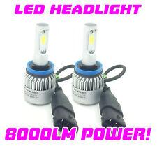 H11 COB LAMPADINE LED FENDINEBBIA KIT 8000 LUMEN 12v 24v canbus 100W PER SMART