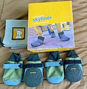 RuffWear Skyliner Dog Boots Paw Protection Size XS -Green- New In Original Box