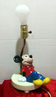 Vintage 1980's  Mickey Mouse Lamp/Night Light Dolly Toy Co Preowned Good