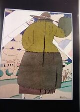 Art deco vintage fashion imprimé paul poiret manteau design ill charles martin 1921