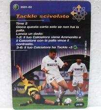 FOOTBALL CHAMPIONS Italiano 2001-02 - TACKLE SCIVOLATO - azione 24/80 VIERI