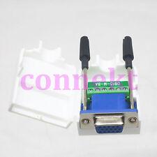 DB15 VGA female 6Pin D-Sub Connector 3+2 line Terminal Board Plastic Cover screw