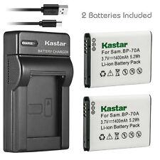 Kastar Battery + Charger for Samsung BP70A PL120 PL170 PL20 PL200 PL80 PL81 WP10